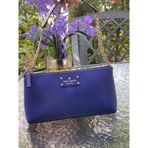 Kate Spade Blue Leather Shoulder Bag